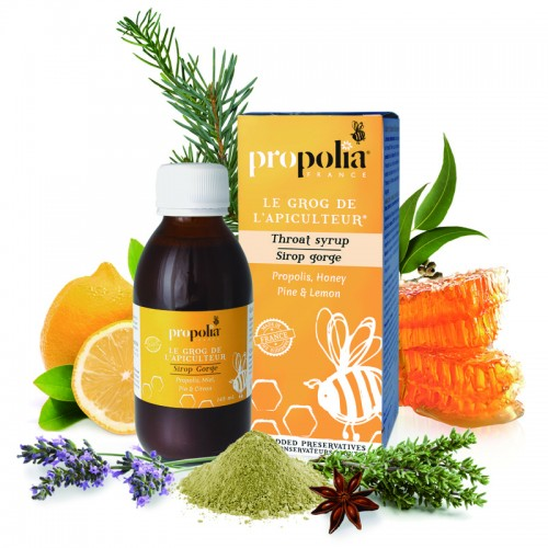 100% Natural Throat Syrup - Propolis / Honey & More