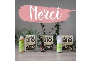 再有三款新產品在新一年被評為法國最佳有機產品!